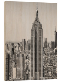 Holzbild  New York City ? Skyline