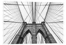 Hartschaumbild  Brooklyn Bridge