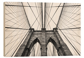 Holzbild  Brooklyn Bridge