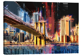 Leinwandbild  New York mit Brooklyn Bridge - Peter Roder