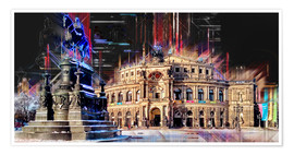 Premium-Poster Semperoper in Dresden