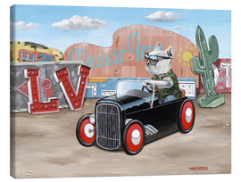 Leinwandbild  Las Vegas Hot Rod Frenchie - Macsorro