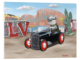 Hartschaumbild  Las Vegas Hot Rod Frenchie - Macsorro