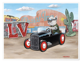 Premium-Poster  Las Vegas Hot Rod Frenchie - Macsorro