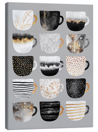 Leinwandbild  Pretty Coffee Cups 3   Grey - Elisabeth Fredriksson