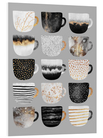 Forex  Pretty Coffee Cups 3   Grey - Elisabeth Fredriksson