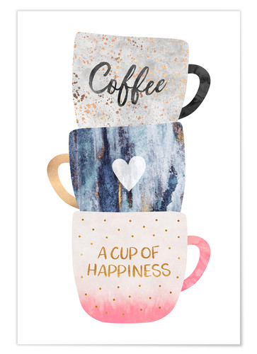 Premium-Poster A cup of happiness