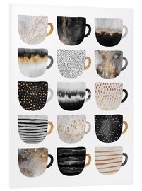 Forex  Pretty Coffee Cups 3   White - Elisabeth Fredriksson