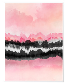 Premium-Poster Pink Mountains
