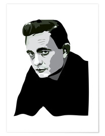 Premium-Poster Johnny Cash