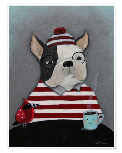 Premium-Poster Boston Terrier