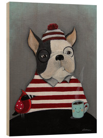 Holzbild  Boston Terrier - ilaamen Pelshaw