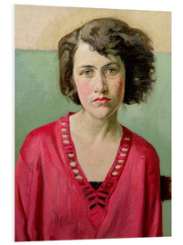 Hartschaumbild  Mädchen in rosa - William Rothenstein