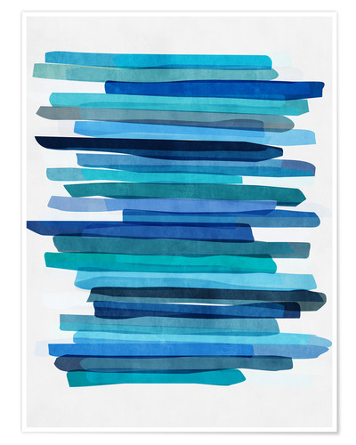 Premium-Poster Blue Stripes 1