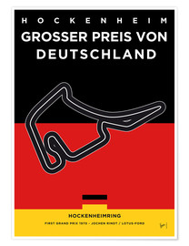 Premium-Poster My F1 Germany Race Track Minimal Poster