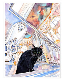 Premium-Poster  Cat in the Hermitage, Saint-Petersburg - Anastasia Mamoshina