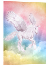 Acrylglas  Einhorn Pegasus - Big Dreams - Dolphins DreamDesign