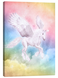 Leinwandbild  Einhorn Pegasus - Big Dreams - Dolphins DreamDesign