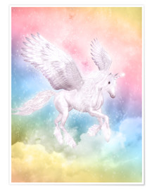 Poster  Einhorn Pegasus - Big Dreams - Dolphins DreamDesign