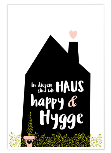 Poster Happy + Hygge