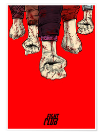Poster  Fight Club blood fist - Paola Morpheus