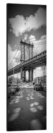 Alu-Dibond  NEW YORK CITY Manhattan Bridge Panorama - Melanie Viola