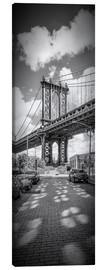 Leinwandbild  NEW YORK CITY Manhattan Bridge Panorama - Melanie Viola