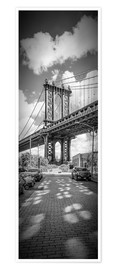Premium-Poster NEW YORK CITY Manhattan Bridge Panorama