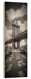Holzbild  NEW YORK CITY Manhattan Bridge Panorama - Melanie Viola