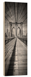 Holzbild  NEW YORK CITY Brooklyn Bridge Panorama - Melanie Viola