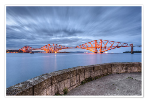 Premium-Poster Edinburgh Forth Bridge