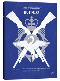 Leinwandbild  No847 My Hot Fuzz minimal movie poster - chungkong