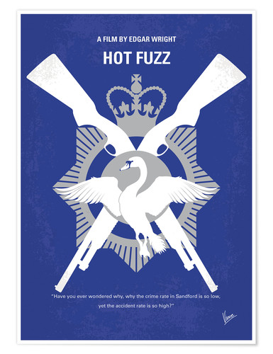 Poster No847 My Hot Fuzz minimal movie poster