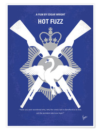 chungkong - No847 My Hot Fuzz minimal movie poster