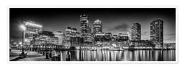 Premium-Poster BOSTON Fan Pier Park & Skyline