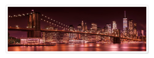 Premium-Poster Brooklyn Bridge und Manhattan Skyline