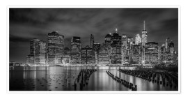 Premium-Poster NEW YORK CITY Idyllische Impression bei Nacht