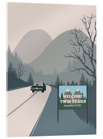 Acrylglas  Alternative welcome to twin peaks art - 2ToastDesign
