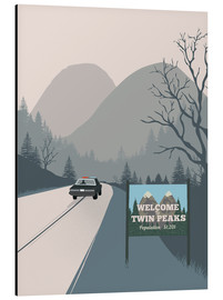 Alubild  Alternative welcome to twin peaks art - 2ToastDesign