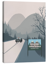 Leinwandbild  Alternative welcome to twin peaks art - 2ToastDesign