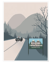 2ToastDesign - Alternative welcome to twin peaks art