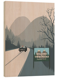 Holzbild  Alternative welcome to twin peaks art - 2ToastDesign