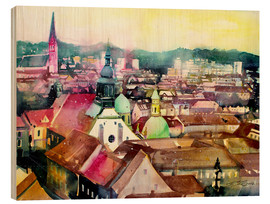 Obraz na drewnie  Graz, view to the cathedral - Johann Pickl