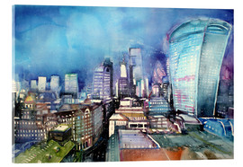 Acrylglasbild  London, The Walkie Talkie - Johann Pickl