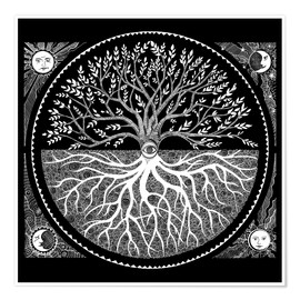 Premium-Poster druid tree of life