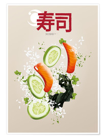 Poster Sushi ist lecker