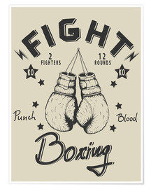 Premium-Poster  Fight - Boxing