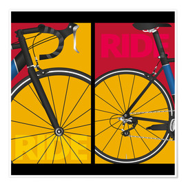 Premium-Poster  Pop Art Ride