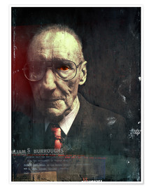 Premium-Poster  william s.burroughs - Daniel Matzenbacher