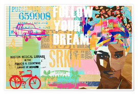 Premium-Poster Follow your dream collage